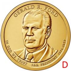 Монета 1 доллар Джеральд Форд (38-й президент США)