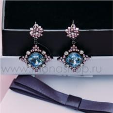 Серьги с кристаллами Сваровски «1001 ночь»