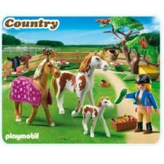 Конструктор Playmobil Country Pony Ranch Загон для лошадей