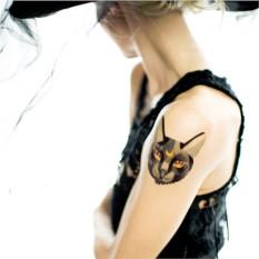 Татуировка переводная Sasha Unisex Black cat
