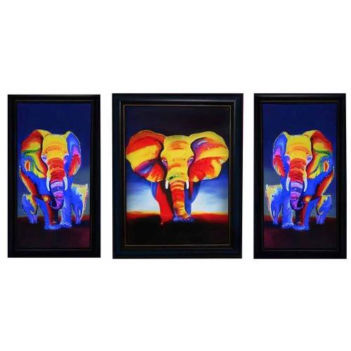 Картина с кристаллами Сваровски Слоны Триплекс