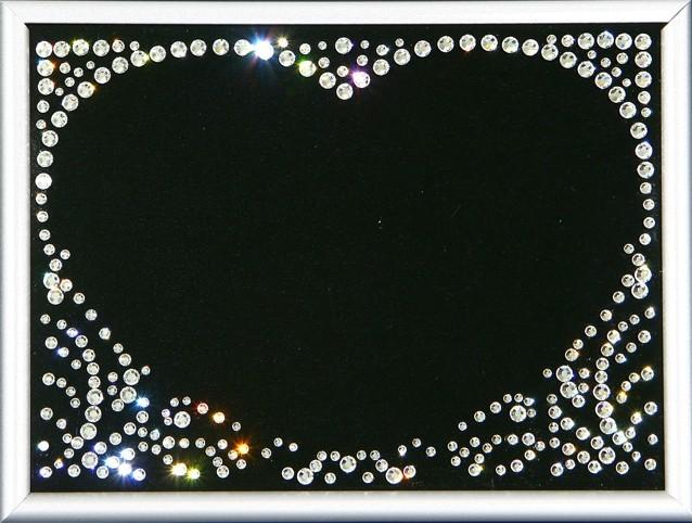 Фоторамка с кристаллами Swarovski Ажурная