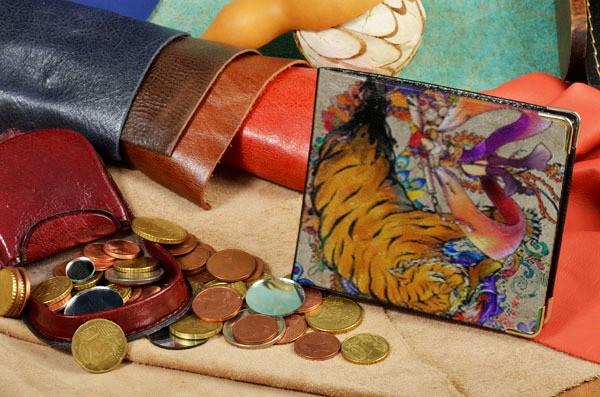 Портмоне с принтом Волшебный тигр