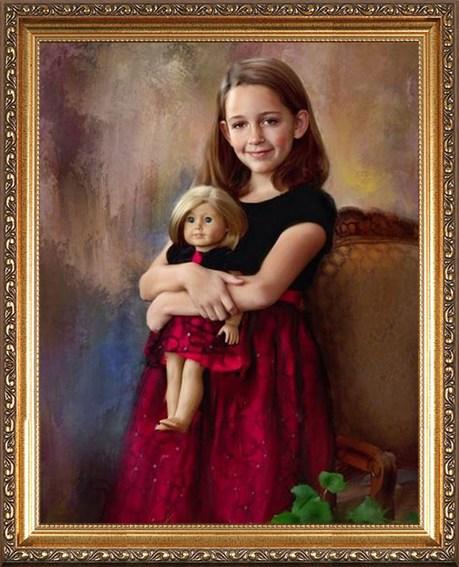 Портрет-подарок для девочки 13-14 лет