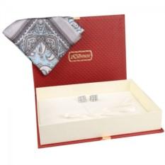 Подарочный набор: серьги, платок