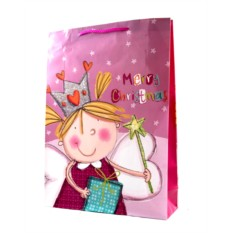 Новогодний подарочный пакет 33*45см