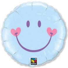 Фольгированный шарик Улыбка с сердечками