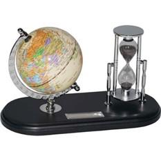 Набор с глобусом на черной подставке