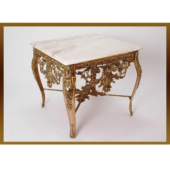 Бронзовый стол квадратный Наполеон