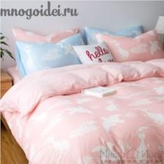 Комплект постельного белья Воздушные сны: розовый