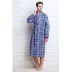 Мужской вафельный халат Gentelmen Style (цвет: серый)