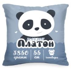 Подушка с метрикой Панда