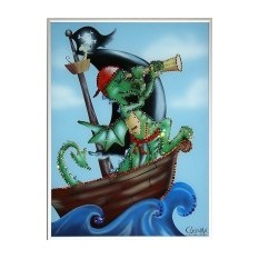 Картина c кристаллами Swarovski Дракон-пират