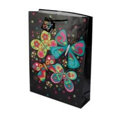 Бумажный ламинированный пакет Бабочки