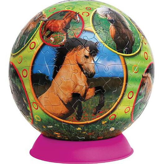 Шаровый пазл «Мир лошадей»