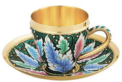 Набор чашка с блюдцем Русские самоцветы