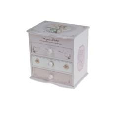 Розовая шкатулка для украшений с зеркалом Фея розы