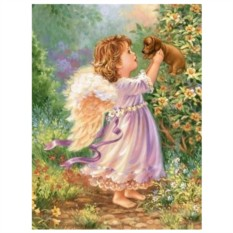 Картина-раскраска по номерам на холсте Ангелок