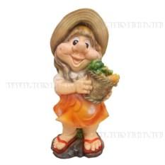 Декоративная садовая фигурка Девочка с морковкой
