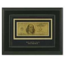 Картина с банкнотой 100$