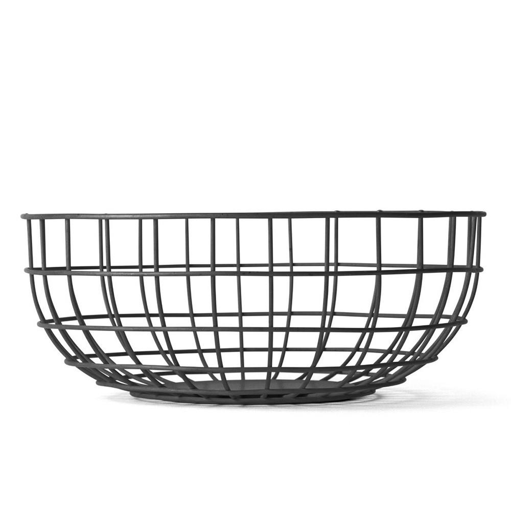 Черная ваза Norm Wire Bowl