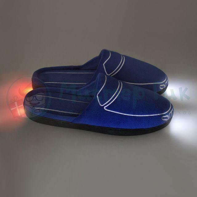 Синие тапки с подсветкой Тапкомобили Car-Tapki