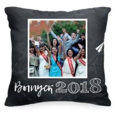 Подушка с вашим фото «Выпуск 2018»