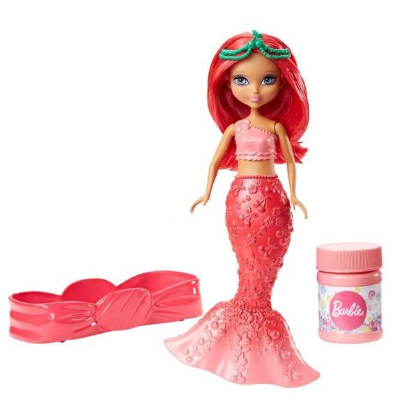 Кукла Barbie Маленькая стильная русалочка с пузырьками