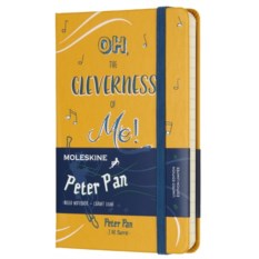 Желтая записная книжка в линейку Moleskine Peter Pan