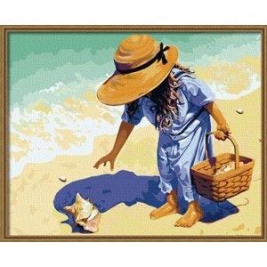 Раскраска по точкам На берегу