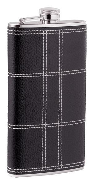 Фляга D-Pro S.Quire, черная с прострочкой, 0,15 л