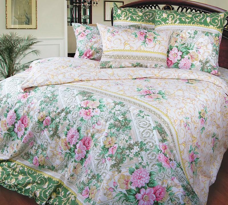 Комплект постельного белья Римский дворик зеленый