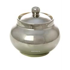 Керамическая сахарница под серебро