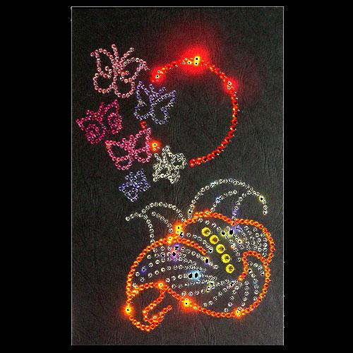 Хрустальная картина «Бабочки на Солнце»