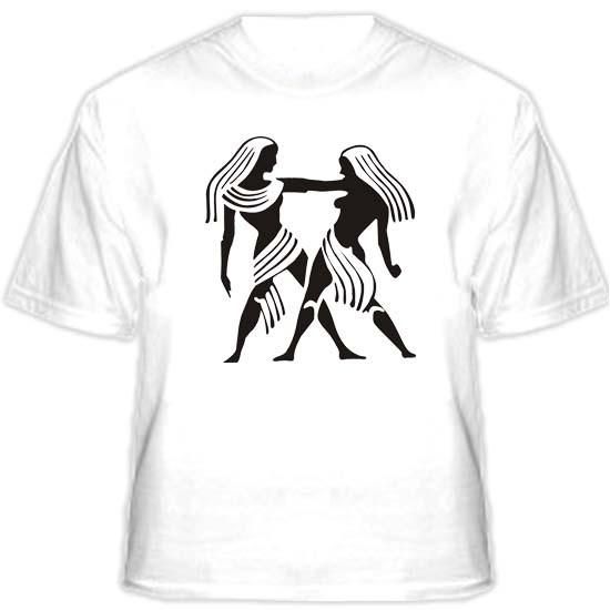 Прикольная футболка «Близнецы»