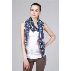 Яркий цветной палантин с узором пейсли Laura Milano