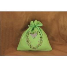 Льняной мешочек Зеленый лён