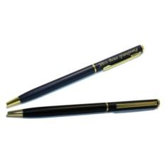 Ручка с золотистой гравировкой