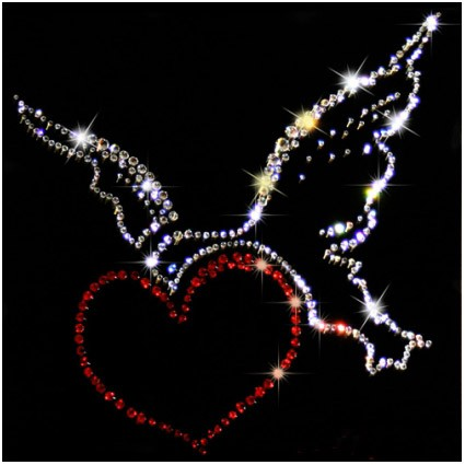 Картина из кристаллов Swarovski «Птица счастья»