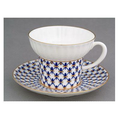 Чашка с блюдцем «Кобальтовая сетка»