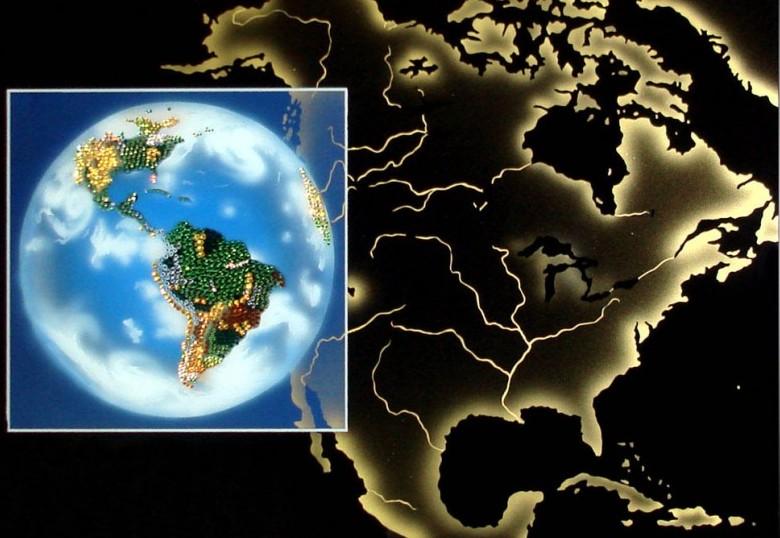 Картина с кристаллами Swarovski Планета Земля 2