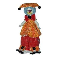 Клоун в оранжево-красном