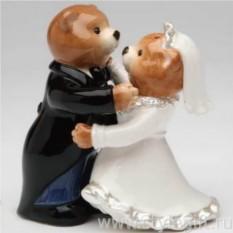 Набор для соли и перца Медведи: жених и невеста