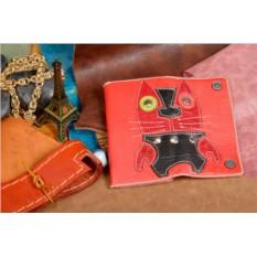 Красная кожаная ключница G.Limited