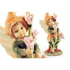 Статуэтка Девочка — фея (в оранжевом)