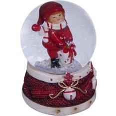 Стеклянный шар со снегом Зимние забавы