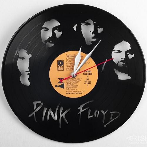 Часы из виниловой пластинки Пинк Флойд