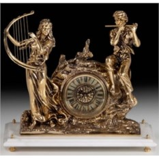 Часы из бронзы Дуэт