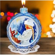 Новогодняя свеча «Снегурочка»