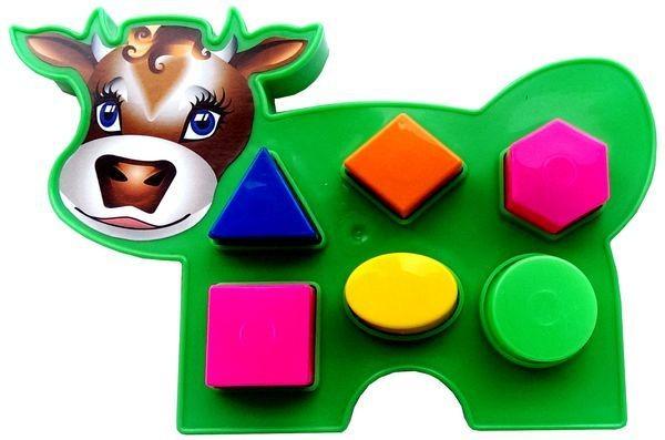 Развивающая игрушка Коровка